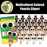 Multicultural Colored Pencils Clipart
