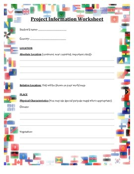 Multicultural Country Project.  Assignment Guide and Student handouts