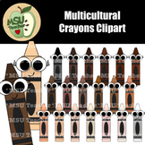 Multicultural Crayons Clipart