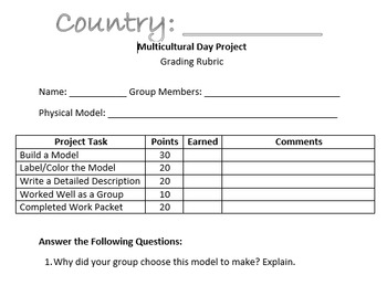Multicultural Day Group Project