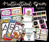 Multicultural Decor - editable labels