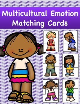 Multicultural Emotion Matching Puzzle Cards