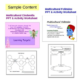 NoSweat Multicultural Folktales Unit with 6g ELA