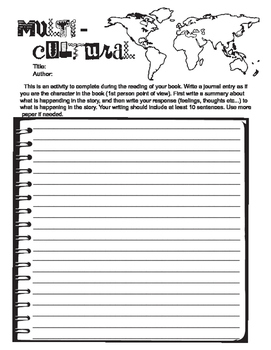 Multicultural Graphic Organizer for Reading