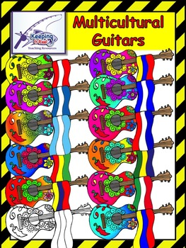 Multicultural Guitars Clipart
