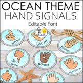 Multicultural Hand Signal Signs Ocean Theme Decor Editable