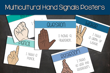 Multicultural Hand Signals Posters