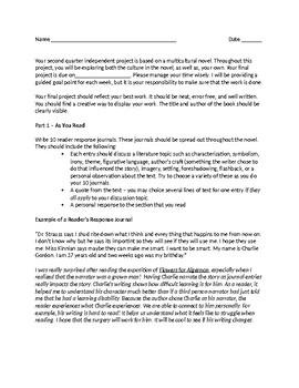 Multicultural Independent Novel Project