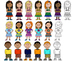 Multicultural Kid Clip Art