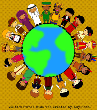 Multicultural Kids Clip Art by LdyDitto | Teachers Pay ...