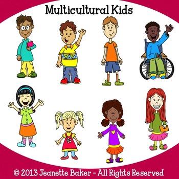 Multicultural Kids Clip Art by Jeanette Baker by Jason's ...