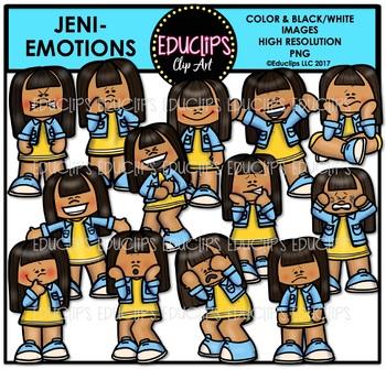 Multicultural Kids Emotions Clip Art Mega Bundle {Educlips Clipart}