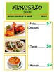 Multicultural Kitchen Center: Mexican Food Menu
