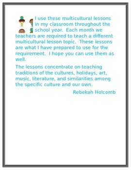 Multicultural Lesson Asian Countries