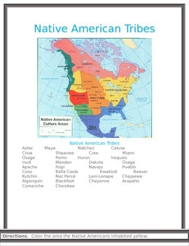 Multicultural Lesson Native Americans