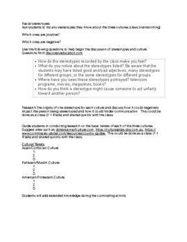 Multicultural Lesson Plans for High School