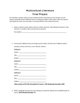 Multicultural Literature Final Project