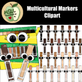 Multicultural Markers Clipart