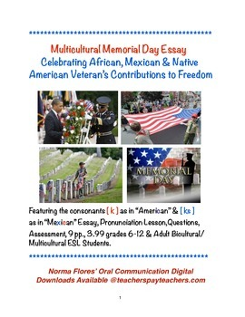 Multicultural Memorial Day Essay