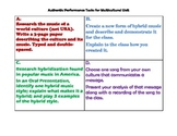 Multicultural Music Unit Assessment Tasks