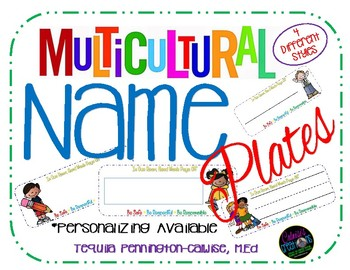 Multicultural Name Plates