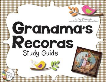 Multicultural Nonfiction Unit - Grandma's Records Study Guide CCSS Aligned