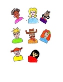 Multicultural People,Diverse Studies,Clip Art,Visual Arts and Bulletin Boards