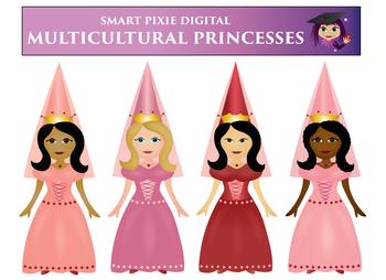 Clip Art- Multicultural Princesses