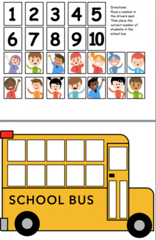 photo about School Bus Printable known as Multicultural University Bus Counting Printable