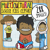 Multicultural School Kids Clipart