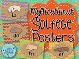 Multicultural Solfege Hand Sign Posters