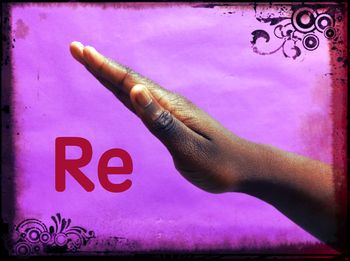 Multicultural Solfege Hand Signs-Purple circle