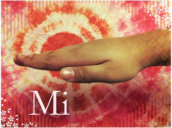 Multicultural Solfege Hand Signs-Red tie dye leaves