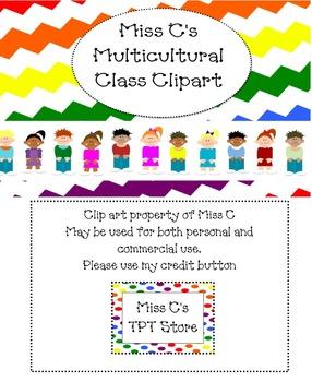 Multicultural Students Clip Art
