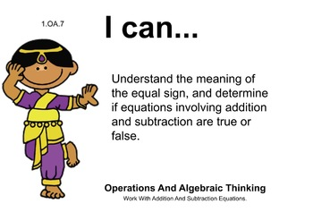 Multicultural Theme 1st grade math Common Core Posters first Grade Standards