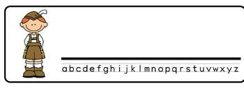 Multicultural Theme Desk Nameplates (Set of Four)