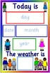 Multicultural calendar and weather chart- diversity, child