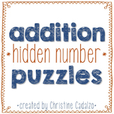 Multidigit Addition Hidden Number Puzzles