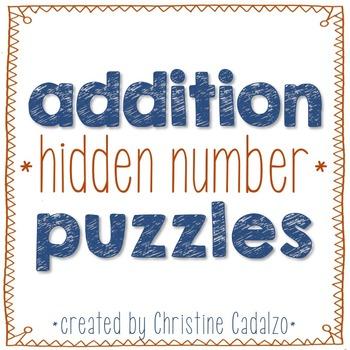 Multidigit Addition Hidden Number Puzzles