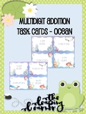 Multidigit Addition Task Cards - Ocean Themed