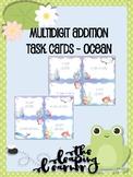 Multidigit Addition Task Cards - Ocean Themed