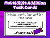 Multidigit Addition Task Cards with Estimating and Expanded Form