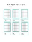 Multidigit Multiplication Grid Template