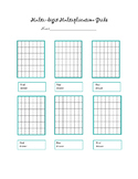 Multidigit Multiplication Grid Template