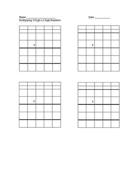Multidigit Multiplication Organizers