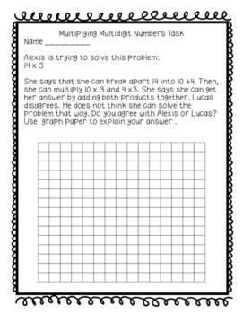Multidigit Multiplication Task