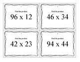 Multidigit Multiplication Task Cards