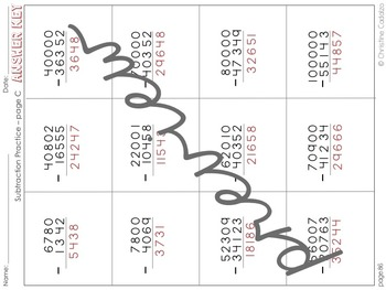 Multidigit Subtraction Unit