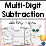 Multidigit Subtraction with Regrouping Worksheets