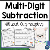 Multidigit Subtraction without Regrouping Worksheets